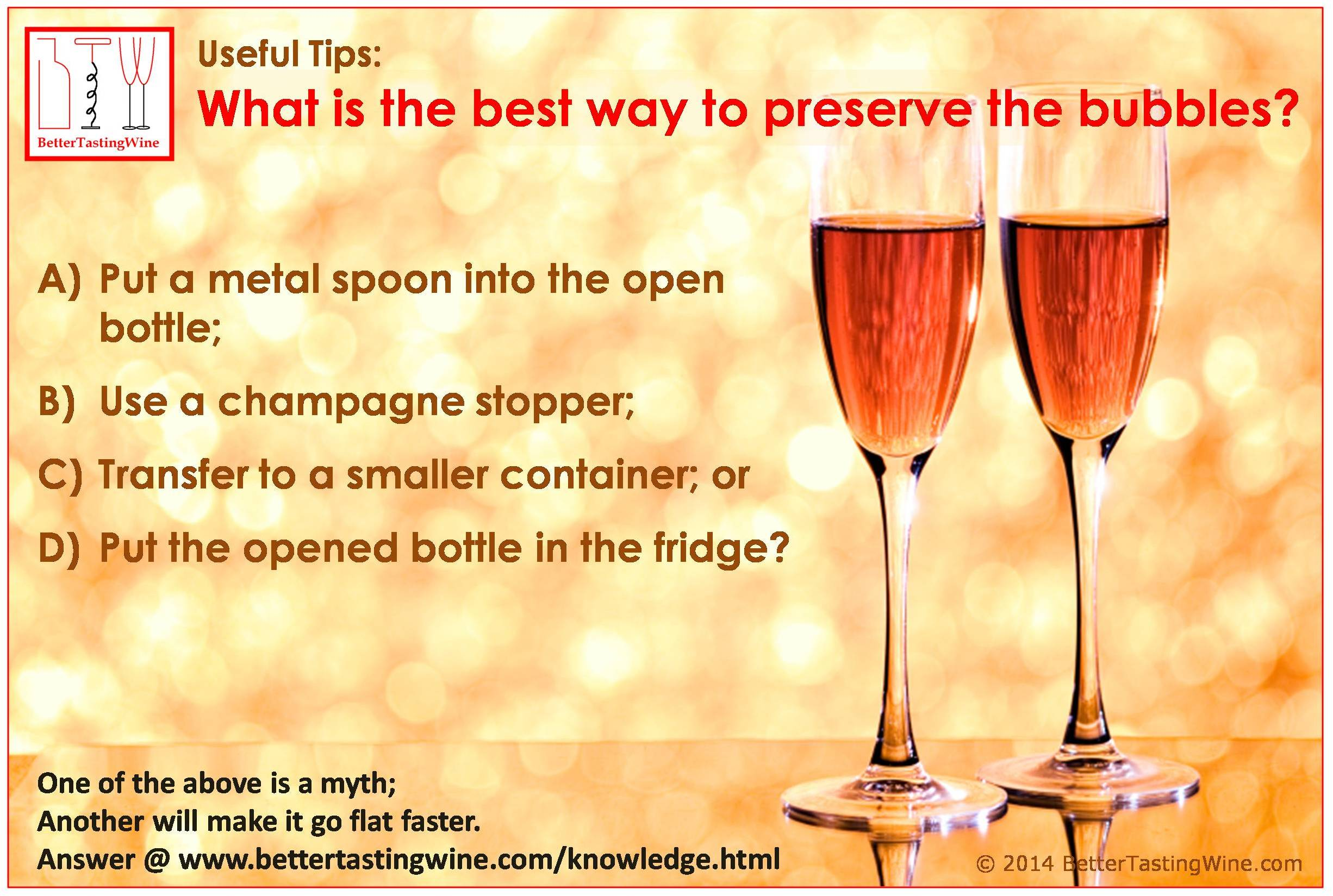 bettertastingwine best way to keep champagne bubbles