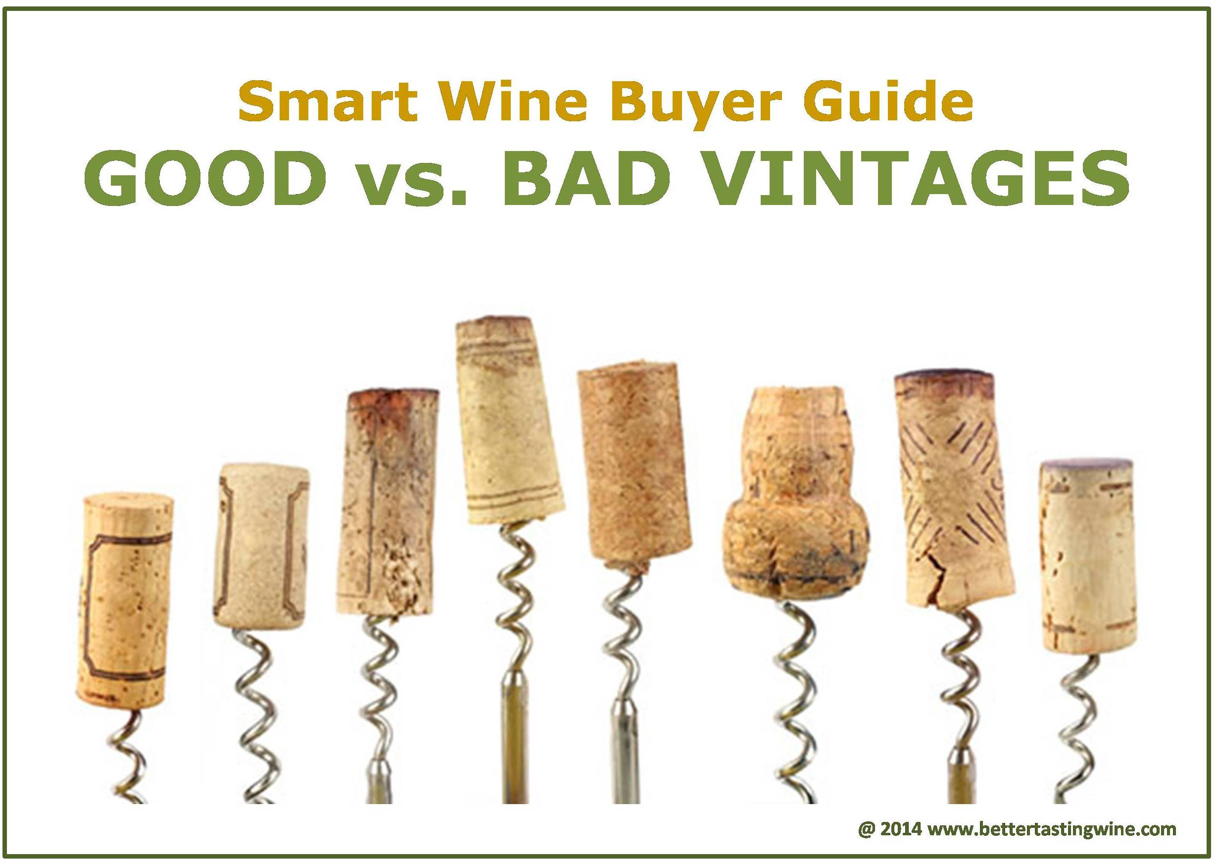 Wine Buying Guide:  Vintage Matters