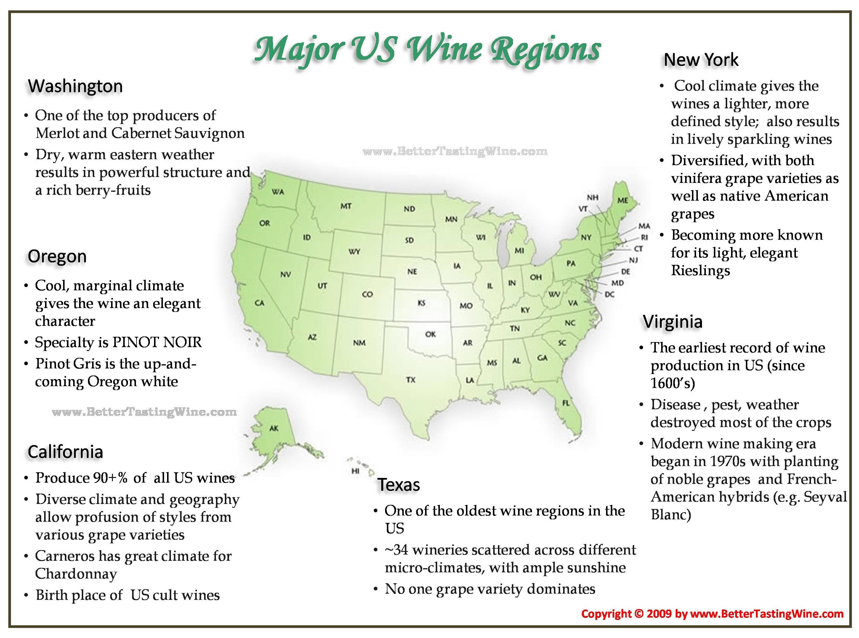 Us Wine Regions Map BetterTastingWine | Wine Maps